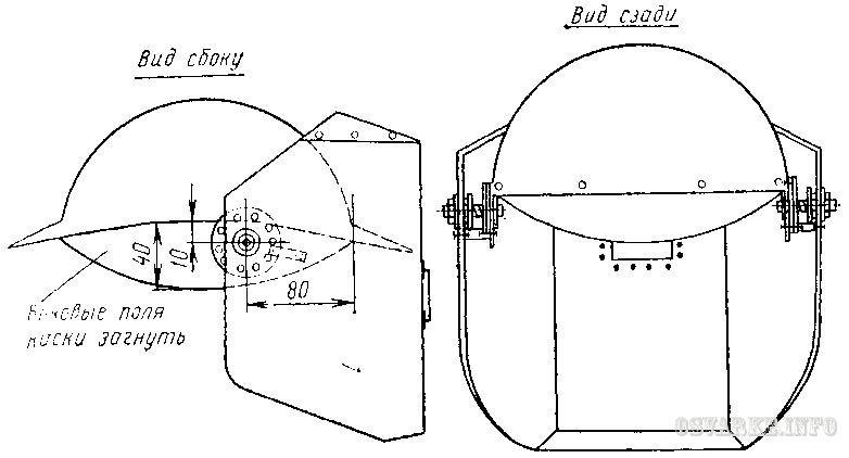 Схема устройства каски-маски
